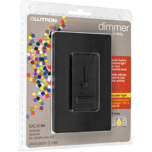 Lutron Dalia 600-Watt 3-Way Duo Dimmer, Granite