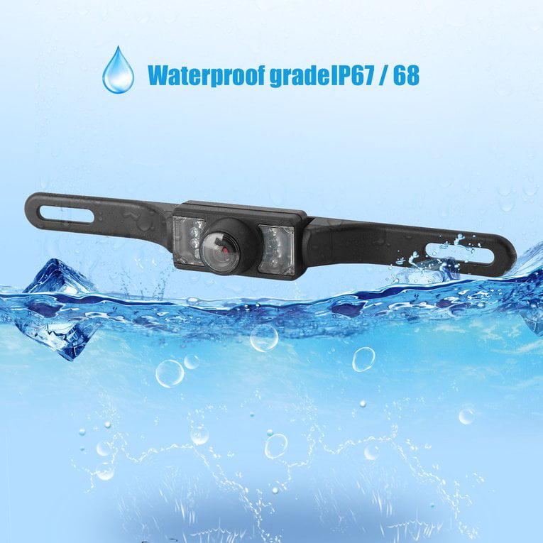170掳 Night Vision Waterproof Car Reverse Backup Parking Camera Mini Car Rearview Camera Car Parking Monitor