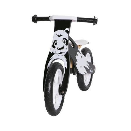 KOBE Wooden Balance Running Bike - Birch Wood No Pedals - Perfect Training Bike For Toddlers & Kids - Panda - image 6 de 11