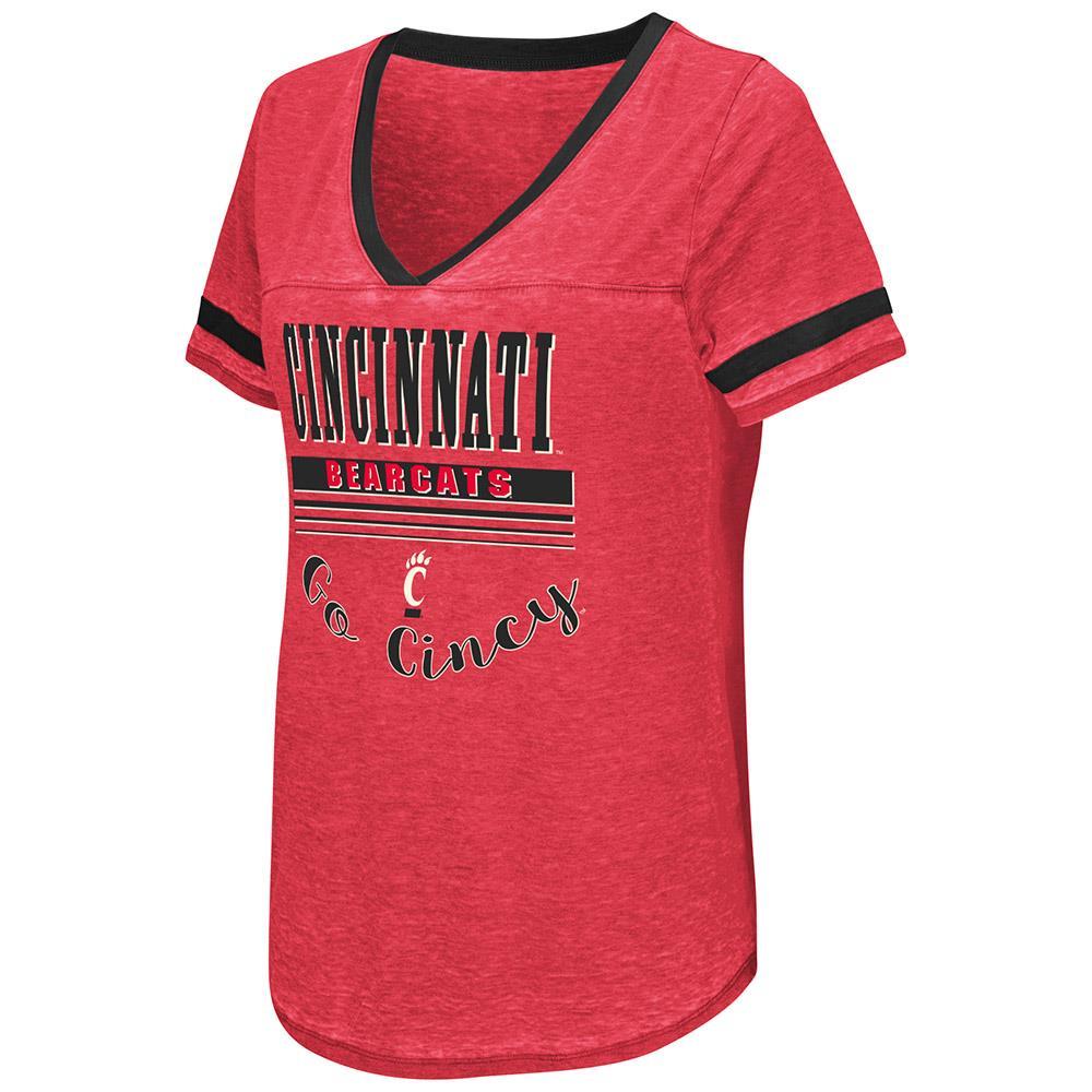 Womens Cincinnati Bearcats Short Sleeve Tee Shirt - S