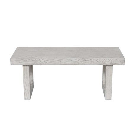 Home Fare Modern Wooden Bench in Weathered Grey - image 5 of 5
