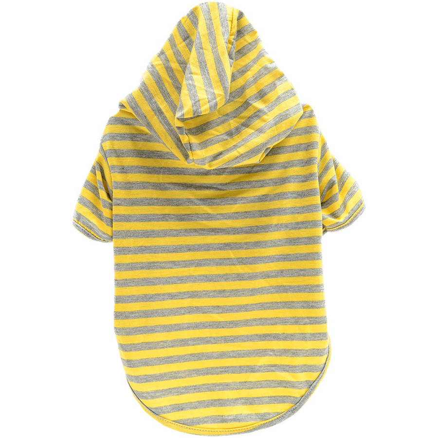 Stellar Pet Boutique Yellow Striped Hoodie