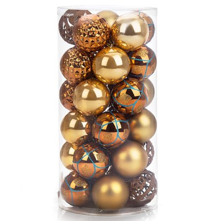 30ct Shatterproof Christmas Ball Ornaments 60mm2.4
