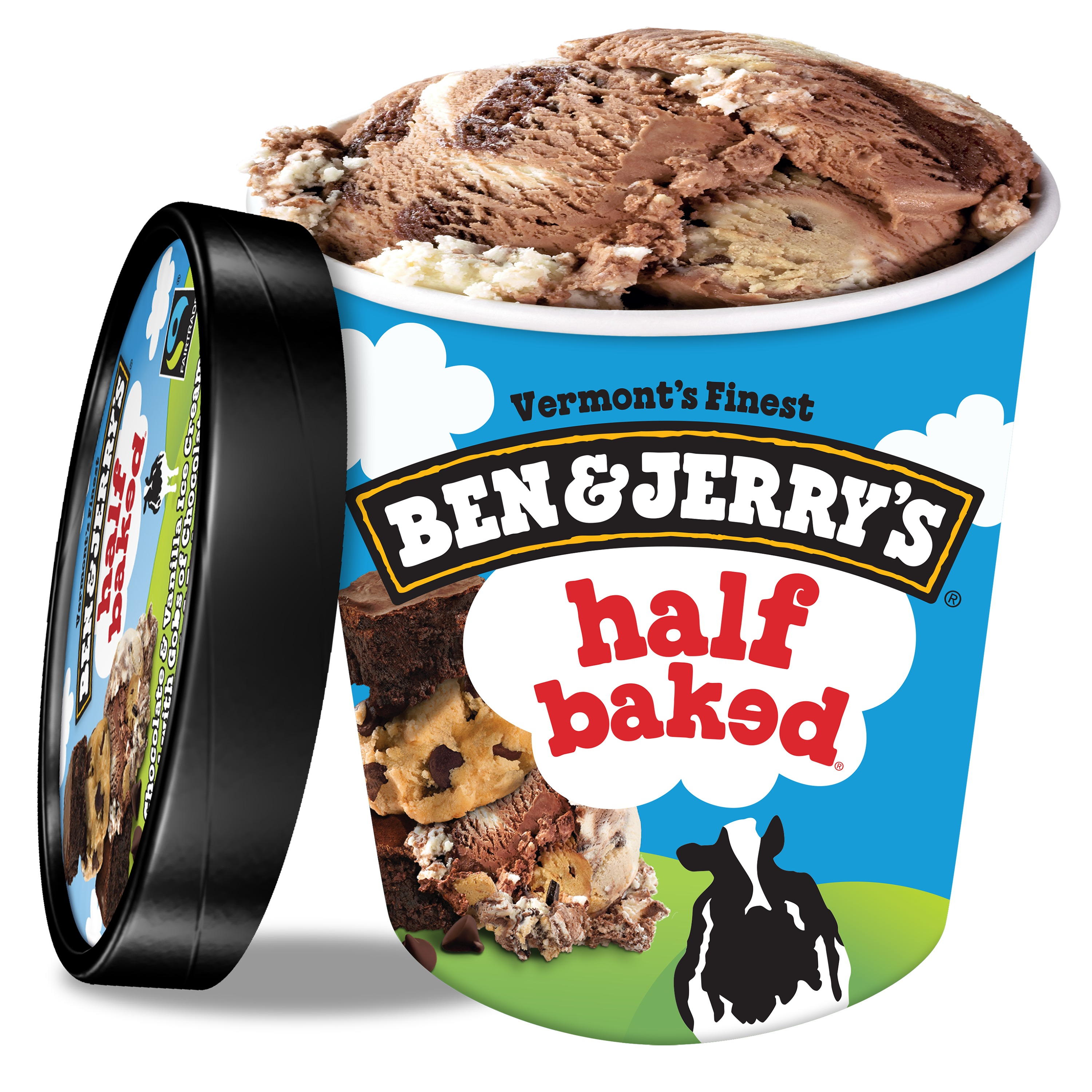 Ben & Jerry's Half Baked Ice Cream, 16 oz