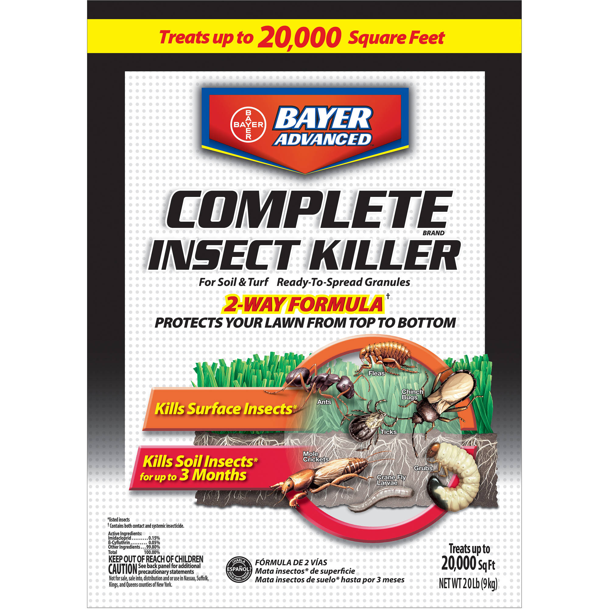 Bayer Advanced Complete Insect Killer, 20 lbs, Granules