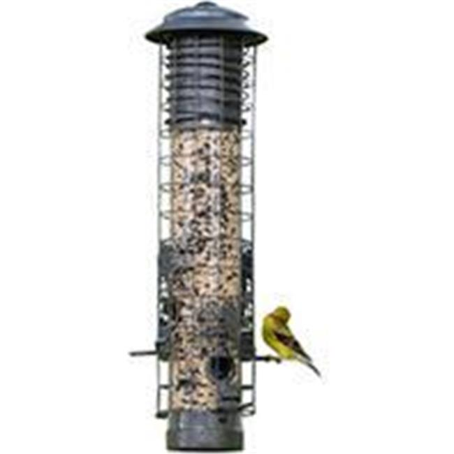 Audubon-woodlink-Dragonfly Squirrel Proof Tube Feeder- Gray 2.5 Pound Cap NA32431