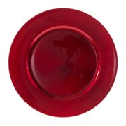 10 Strawberry Street Lacquer Round Charger Plate in Red (Set of 6)