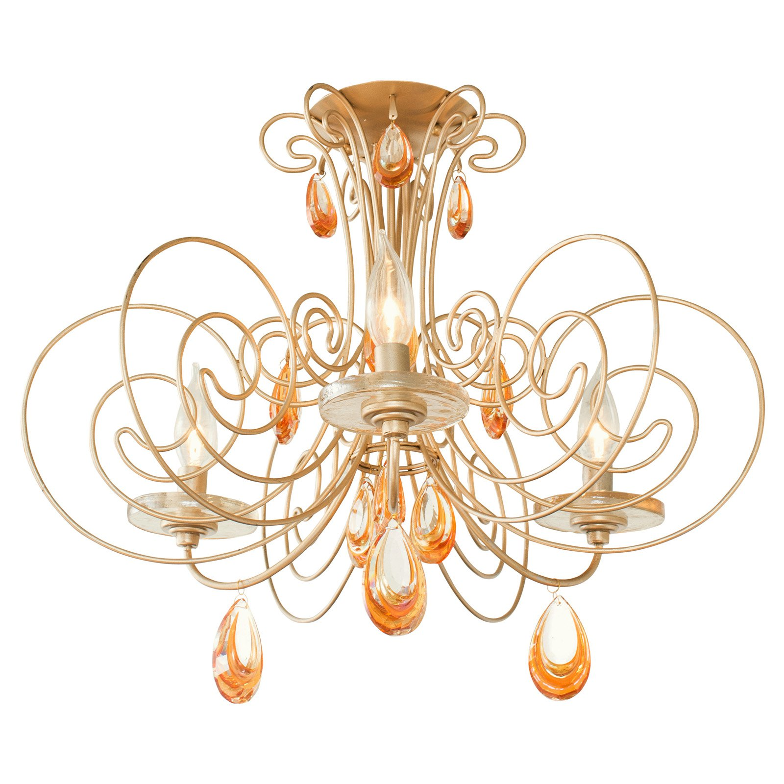 Varaluz Elysse 238S03GD 3 Light Semi Flush Mount