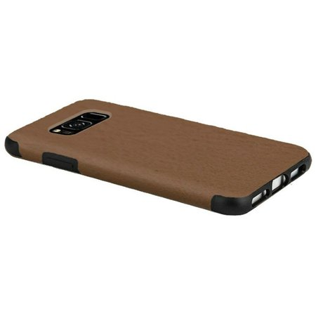 Samsung Galaxy S8 Plus Case, by Insten Leather Rubber TPU Case Cover For Samsung Galaxy S8 Plus S8+, Dark Brown - image 2 de 4