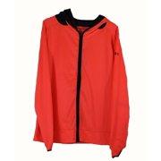 Under Armour Womens Medium Neon Orange Black Running Heatgear Zip Up Jacket NWOT