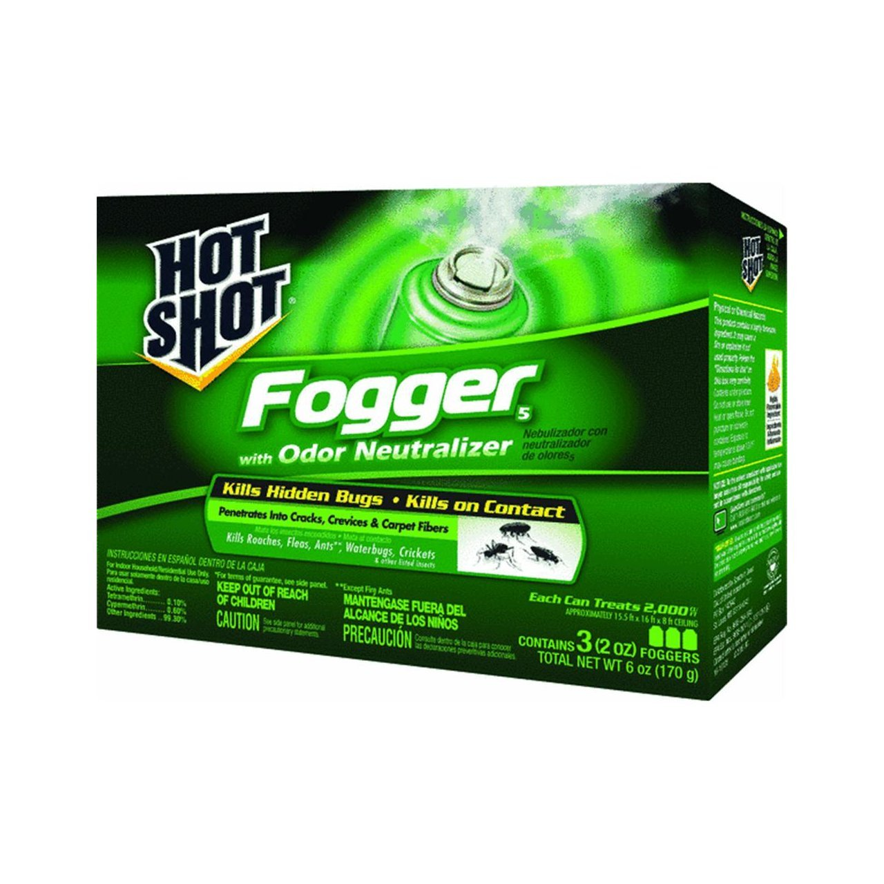 Hot Shot Foggers With Odor Neutralizer Insecticide, 3-Count