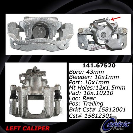 Brake Caliper Package - OE Replacement for 2008-2016 Dodge Grand Caravan Rear Left Disc Brake Caliper (30th Anniversary Edition / American Value Package / C/V / Canada Value Package / Crew)