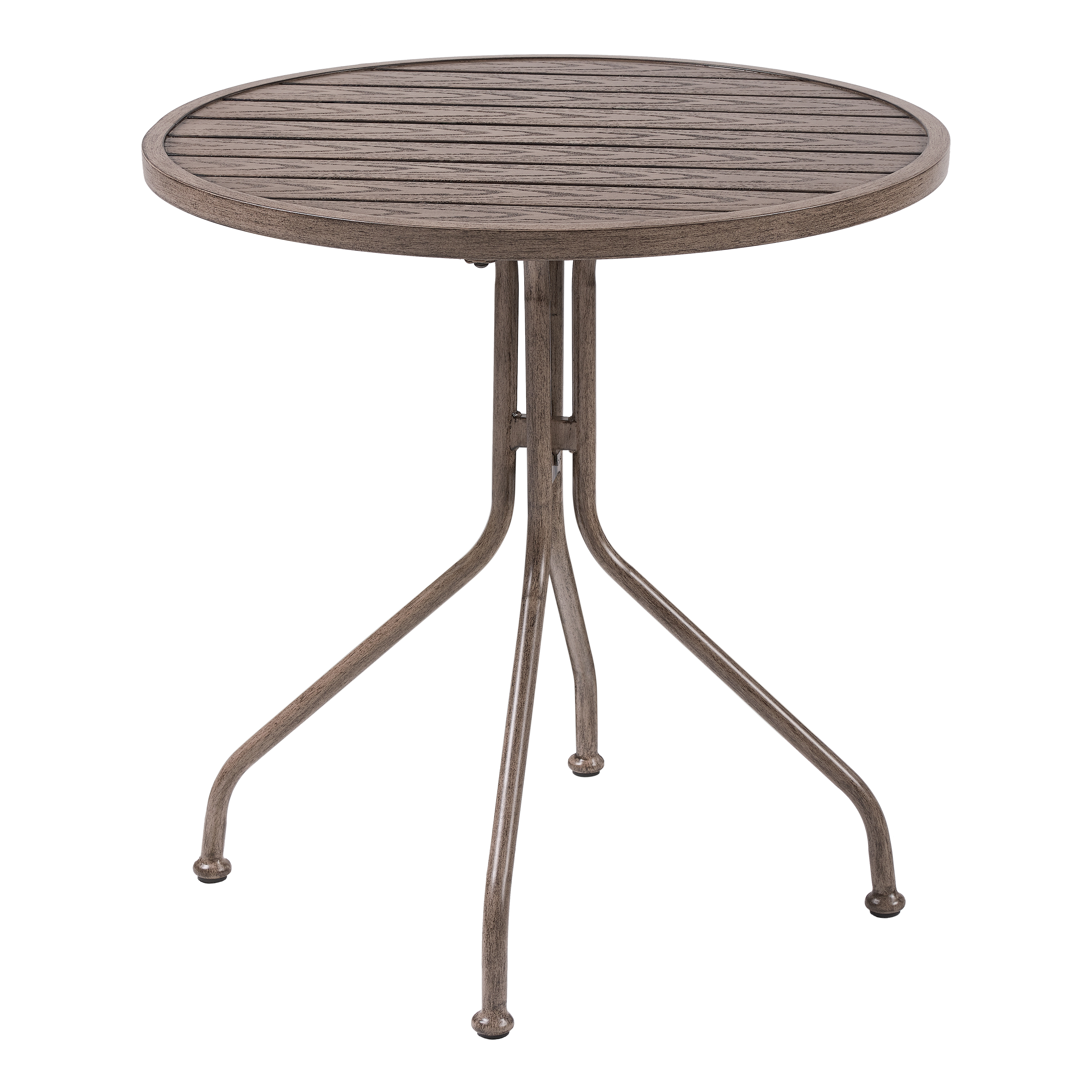 Better Homes & Gardens Camrose Farmhouse Round Slat-Top Table