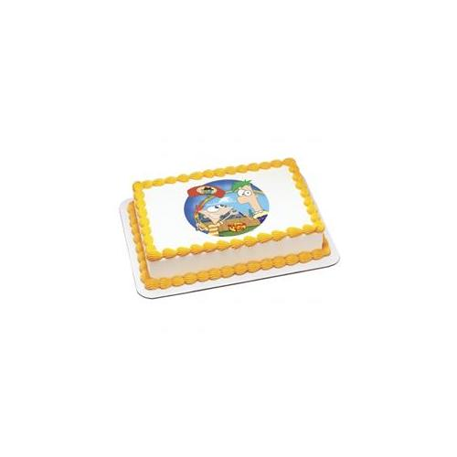 Deco Pac 206547 Disney Phineas and Ferb Agent P Arrives Edible Icing Cake Topper