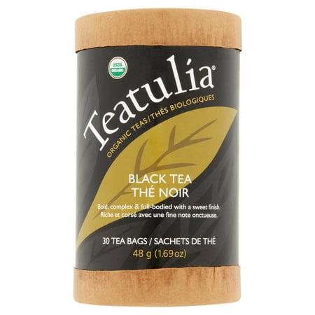 Teatulia Noir bio Thé, 30 sachets de thé, 1,69 oz, 6 pack