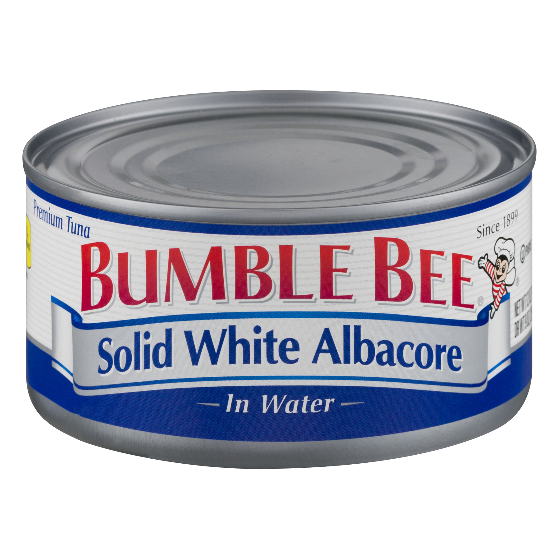 Bumble Bee Solid White Albacore Tuna in Water, Canned Tuna Fish, High Protein Food, 12oz Can
