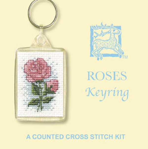 Textile Heritage Keyring Counted Cross Stitch Kit - Roses