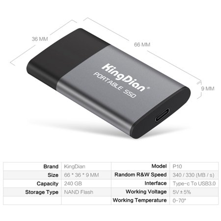 KingDian Newest Portable SSD USB 3.0 120GB/240GB External Solid State Drive for Computer Laptop Desktop Phone - image 3 of 7