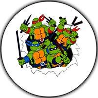 "Teenage Mutant Ninja Turtles 90s TMNT Edible Image Photo Sugar Frosting Icing Cake Topper Sheet Personalized Custom Customized Birthday Party - 8"" ROUND - 75690"