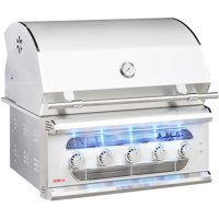 American Muscle Grill 36-Inch 5-Burner Built-In Dual Fuel Wood / Charcoal / Propane Gas Grill