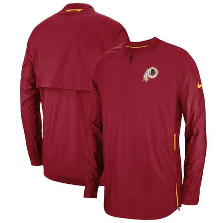 timeless design 0da82 bc2d0 Washington Redskins Nike Sideline Lockdown Quarter-Zip Jacket - Burgundy