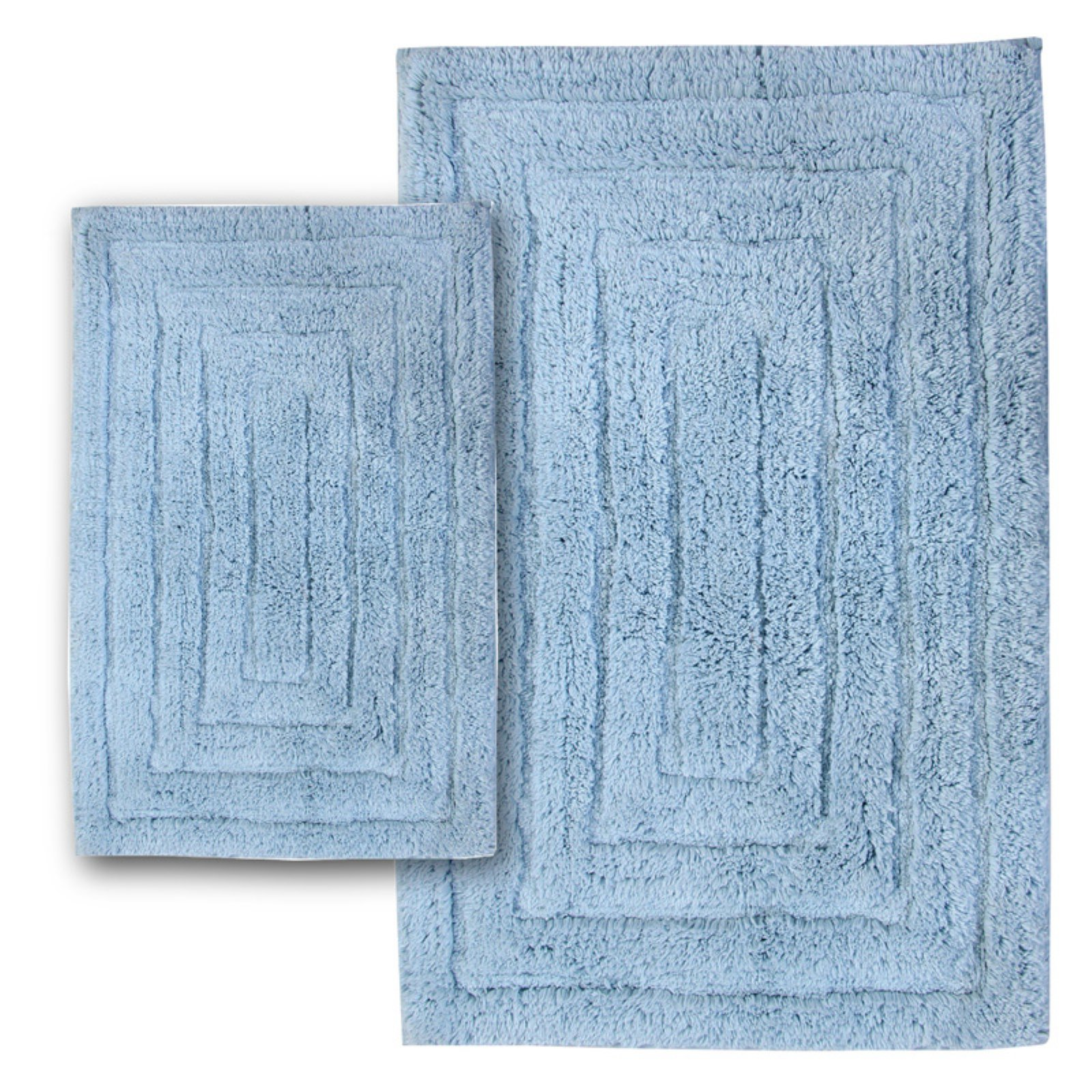 Elegance Collection Racetrack Bath Rug - Set of 2