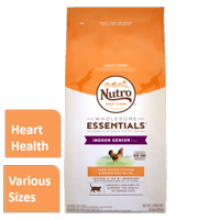 Nutro Wholesome Essentials Indoor Senior with Farm-Raised Chicken & Brown Rice Dry Cat Food (Various Sizes)