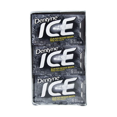 Dentyne Ice Arctic Chill Sugar Free Gum - 16 ct. - 12 pk.