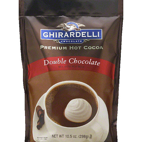 Ghirardelli Chocolate Double Chocolate Premium Hot Cocoa, 10.5 oz, (Pack of 6)