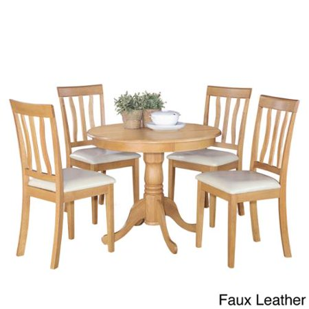 East West Furniture Oak Small Kitchen Table And 4 Chairs Dining Set