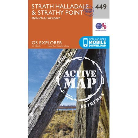 Os Explorer Map Active  449  Strath Halladale And Strathy Point  Os Explorer Active Map   Map