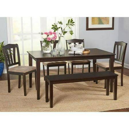 Metropolitan 6-Piece Dining Set with Bench, (Metropolitan 6 Piece Dining Set With Bench Espresso)
