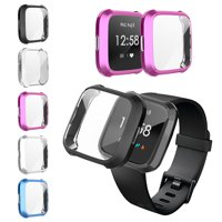 Case for Fitbit Versa Lite, EEEKit TPU Screen Protector Frame Cover Scratch-Proof All-Around Protective Bumper Shell for Fitbit Versa Lite Smartwatch