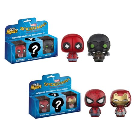 - Funko Pint Size Heroes Vinyl Figures - Spider-Man Homecoming - 3-PACKS (Set of 2)