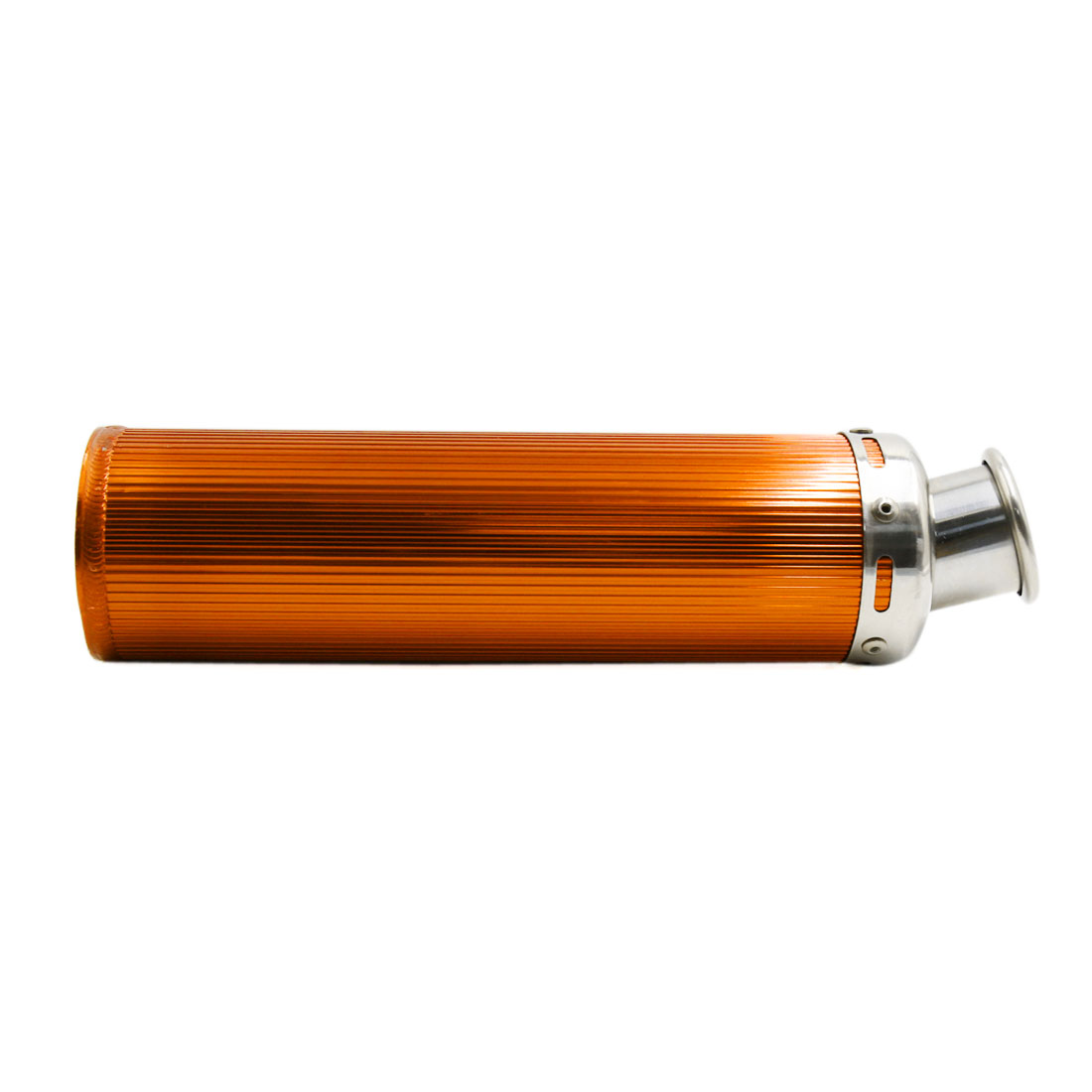 360 x 90mm Gold Tone Aluminum Alloy Cylinder Shaped Motorcycle Exhaust Pipe - image 4 de 5