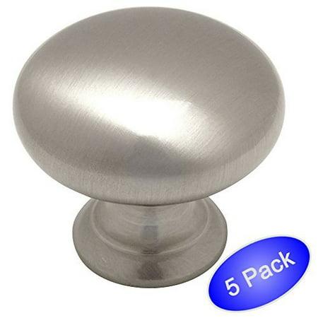 Cosmas 4950sn Satin Nickel Cabinet Hardware Round Mushroom 1 4 Diameter 5 Pack