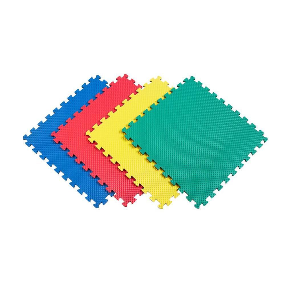 Norsk Multicolor 24 in. x 24 in. EVA Foam Solid Color Multi-Purpose Interlocking Tile (20-Tile)