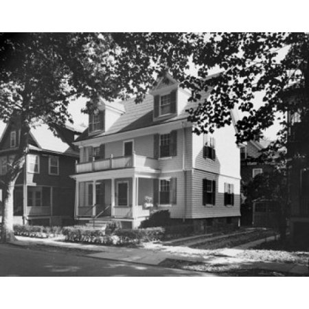 Facade Of A House Birthplace Of John F Kennedy Brookline Massachusetts Usa Poster Print  18 X 24