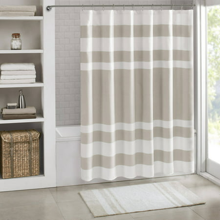 Spa Waffle Shower Curtain with 3M Treatment - Taupe