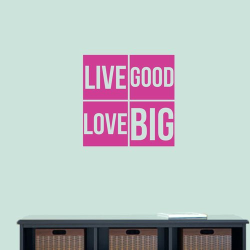 Winston Porter Weathers Live Good Love Big Wall Decal