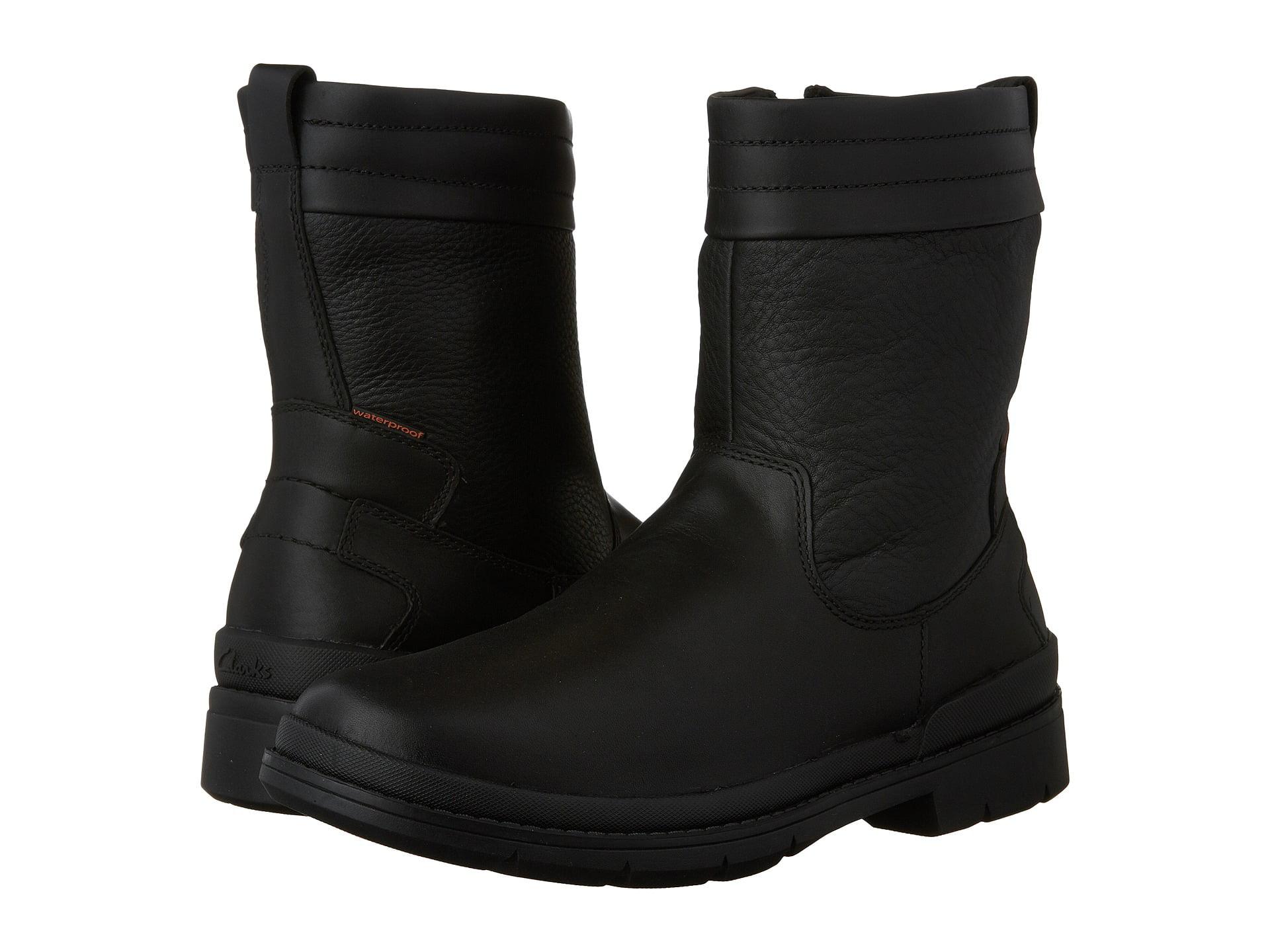 Clarks Kimball Peak Mens Black Waterproof Side Zip Winter Boots by Clarks