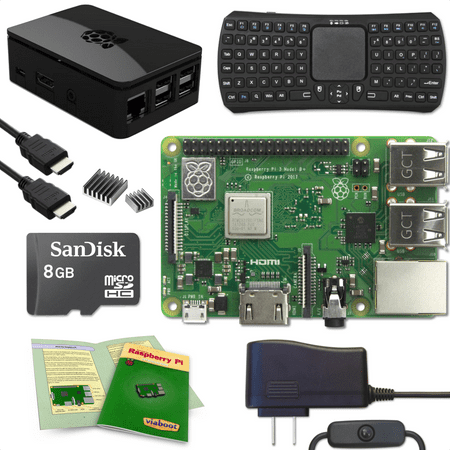 Viaboot Raspberry Pi 3 B+ Keyboard (Bluetooth Edition) Kit with Premium Black
