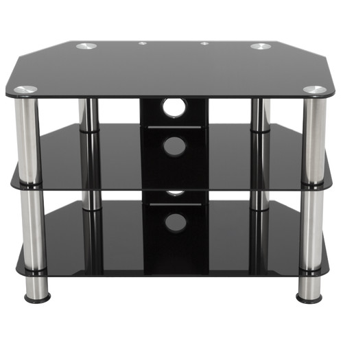 AVF Classic Corner Glass TV Stand with Cable Management for up to 42""