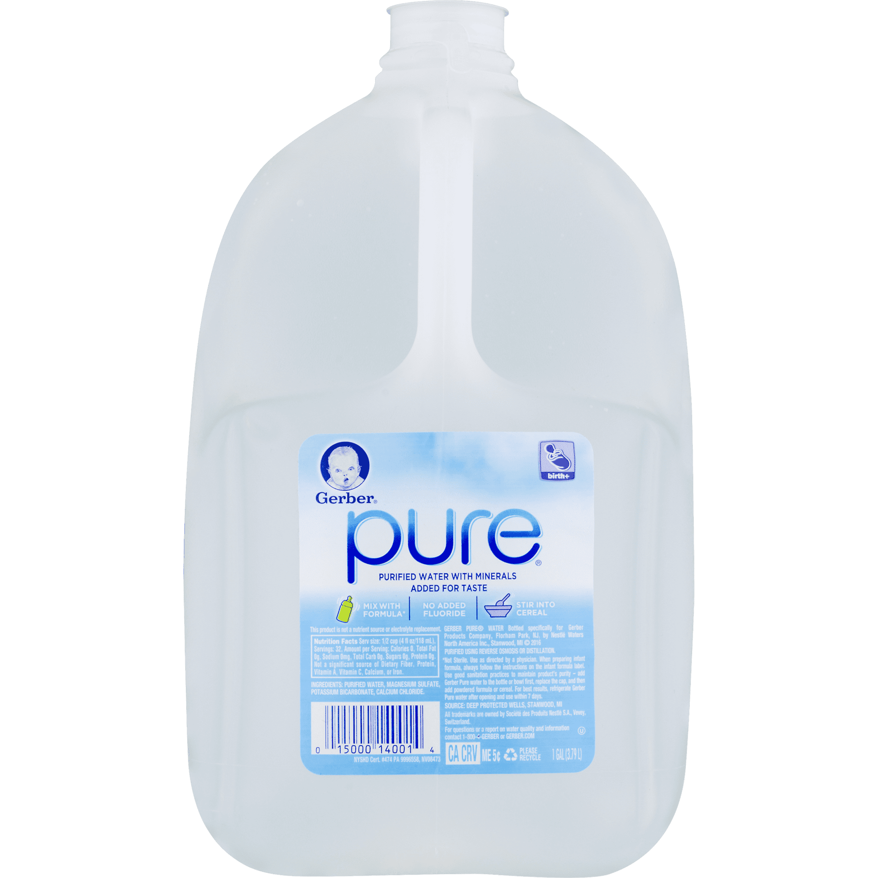 Gerber Pure Purified Water With Minerals 1 0 GAL Walmart