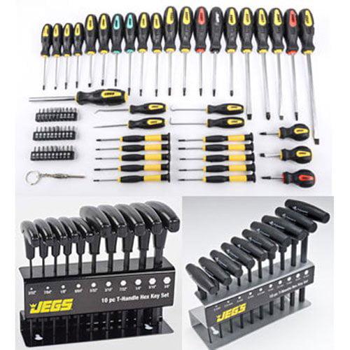 JEGS 80755K1 Ultimate Screwdriver & Hex Key Kit