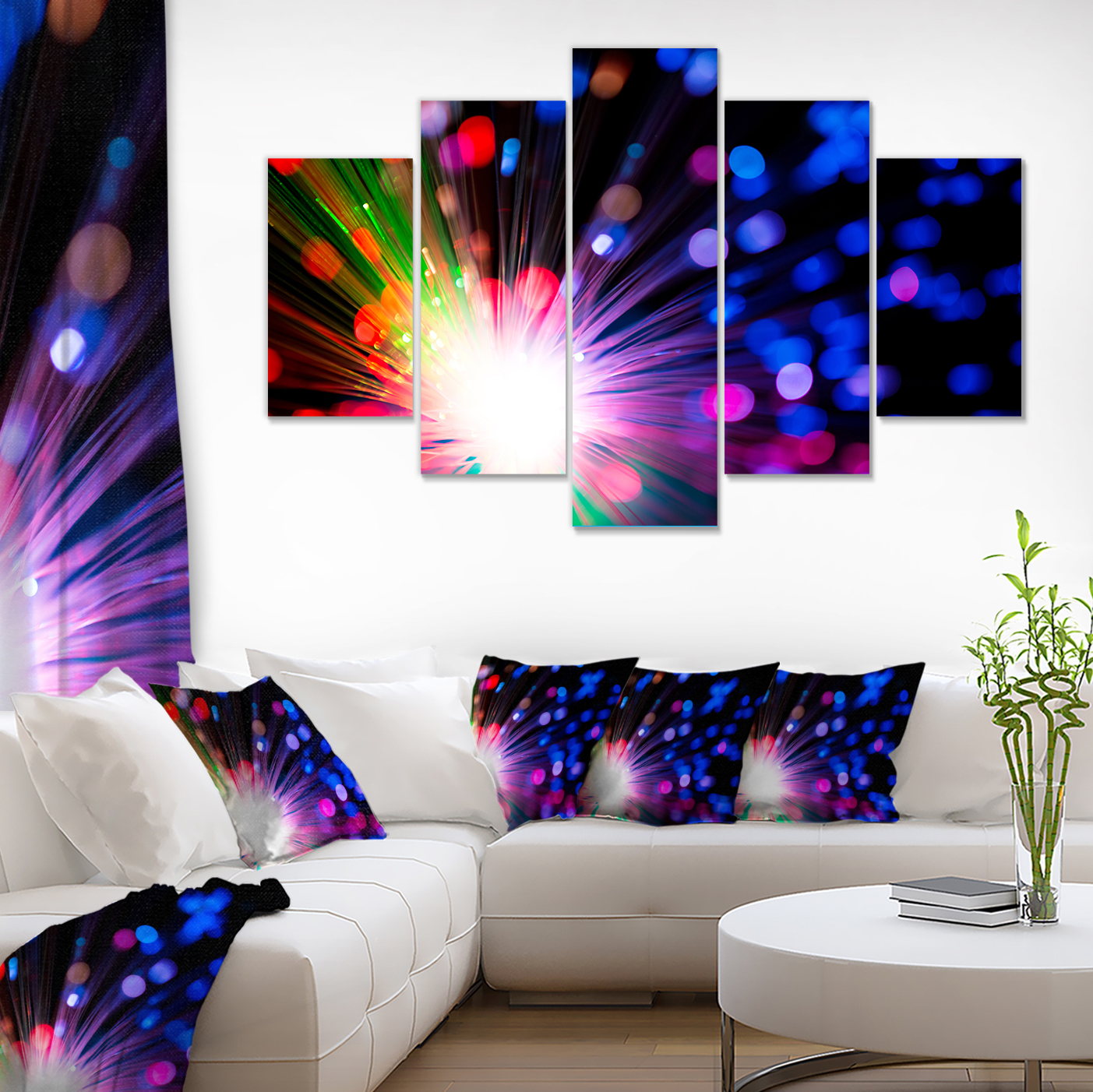 ABSTRACT PURPLE BLUE MODERN CANVAS PRINT ART PICTURE 30 X 20 Inch WALL ART