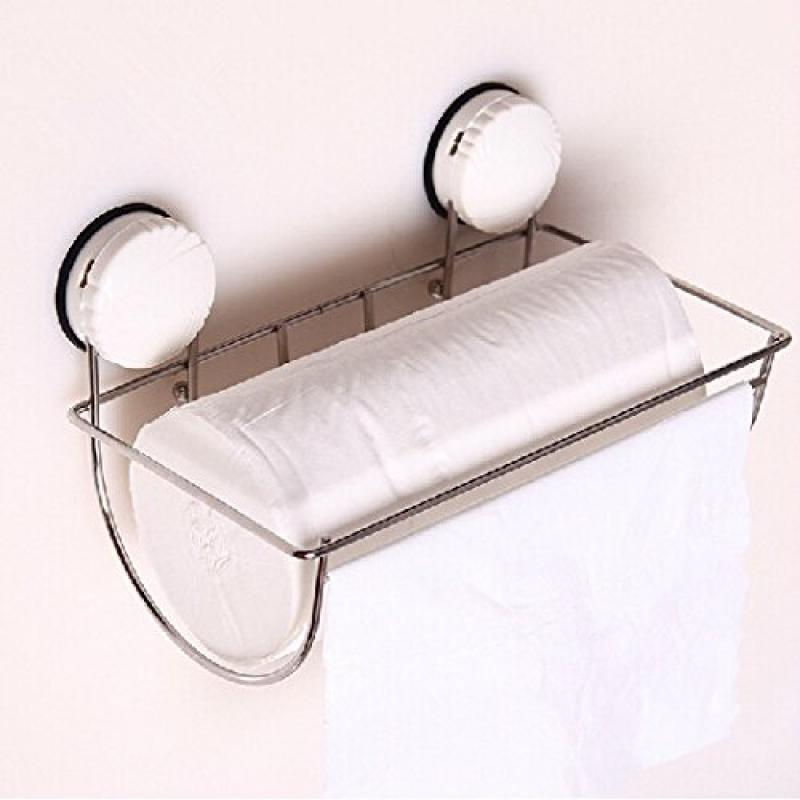 roll holder bathroom suction wall strong suction cup pape...