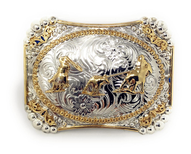 Texas West Western Cowboy//Cowgirl Premium Round Buckle Head In Multi Symbols