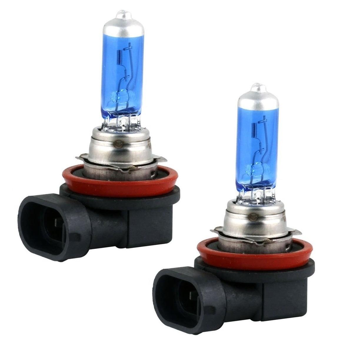 2x H11 Halogen 55W 12V Low-Beam Headlight/Driving Light/Fog Bulbs Bright White