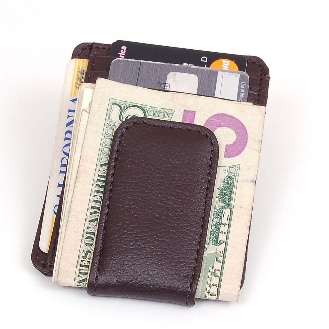 a7d55c267b6f SBR Designs - Mens Leather Wallet Money Clip Credit Card ID Holder Front  Pocket Thin Slim NEW - Walmart.com